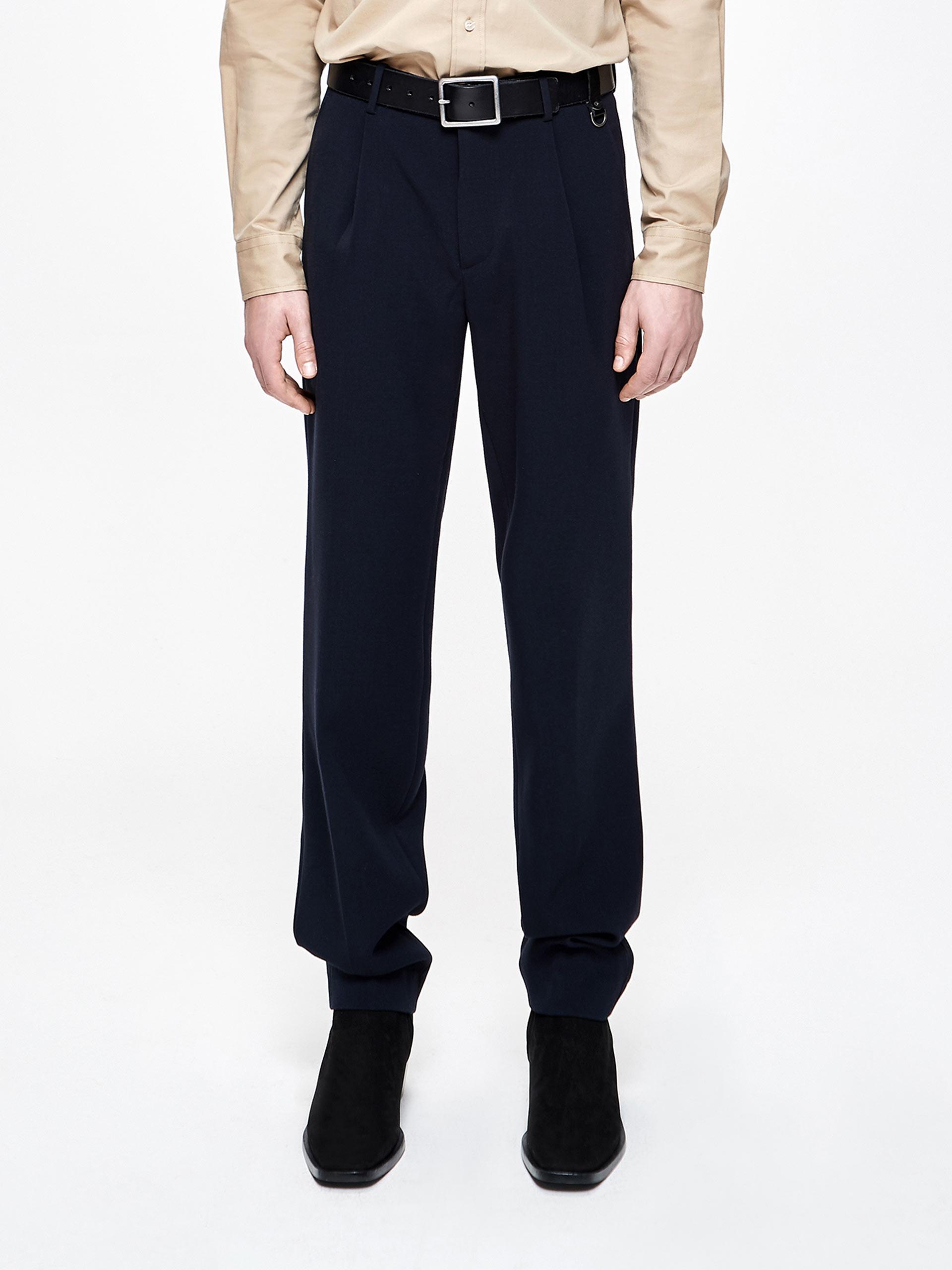 男装腰头印字直筒长裤