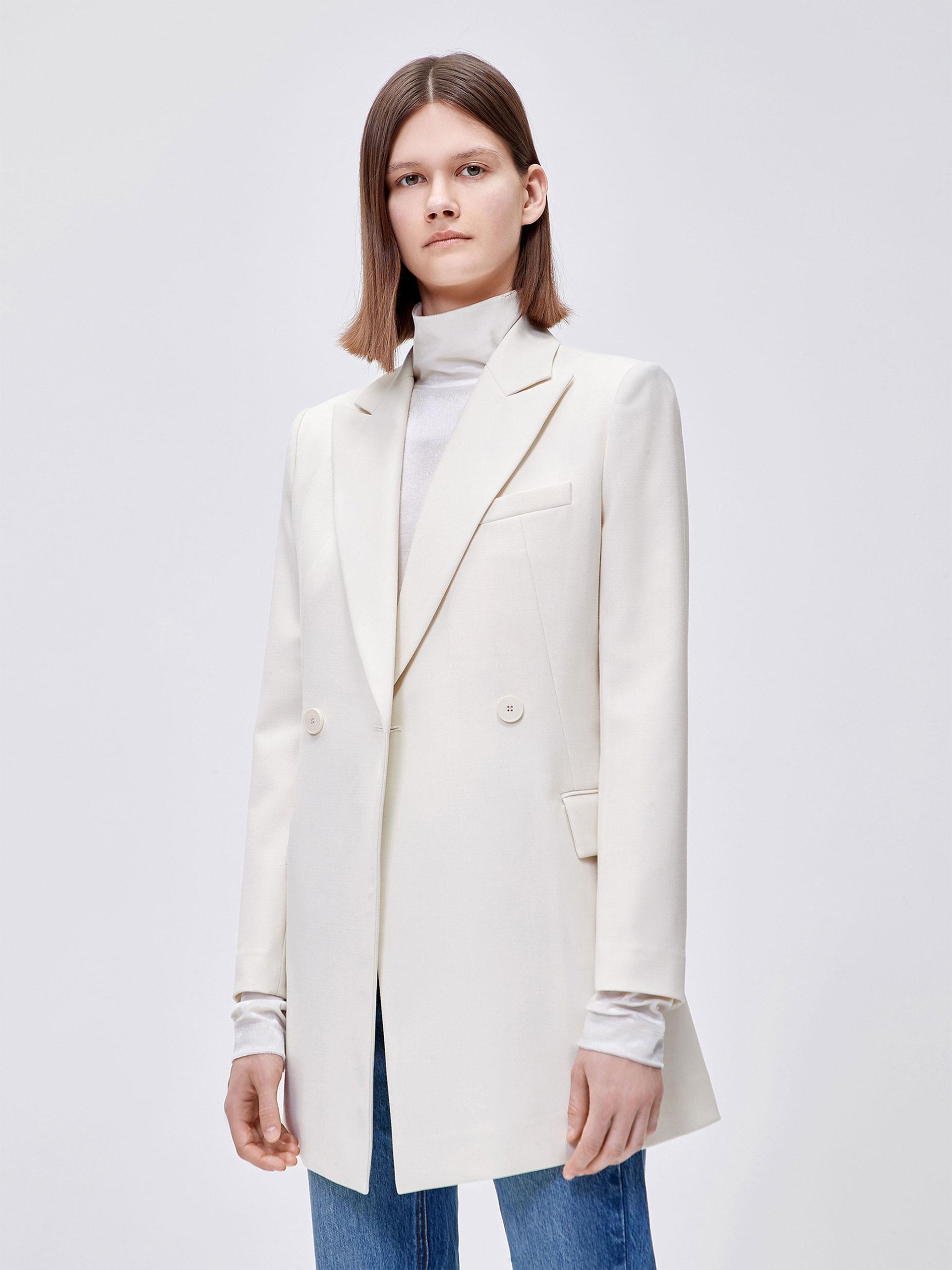 复古双排扣西装外套