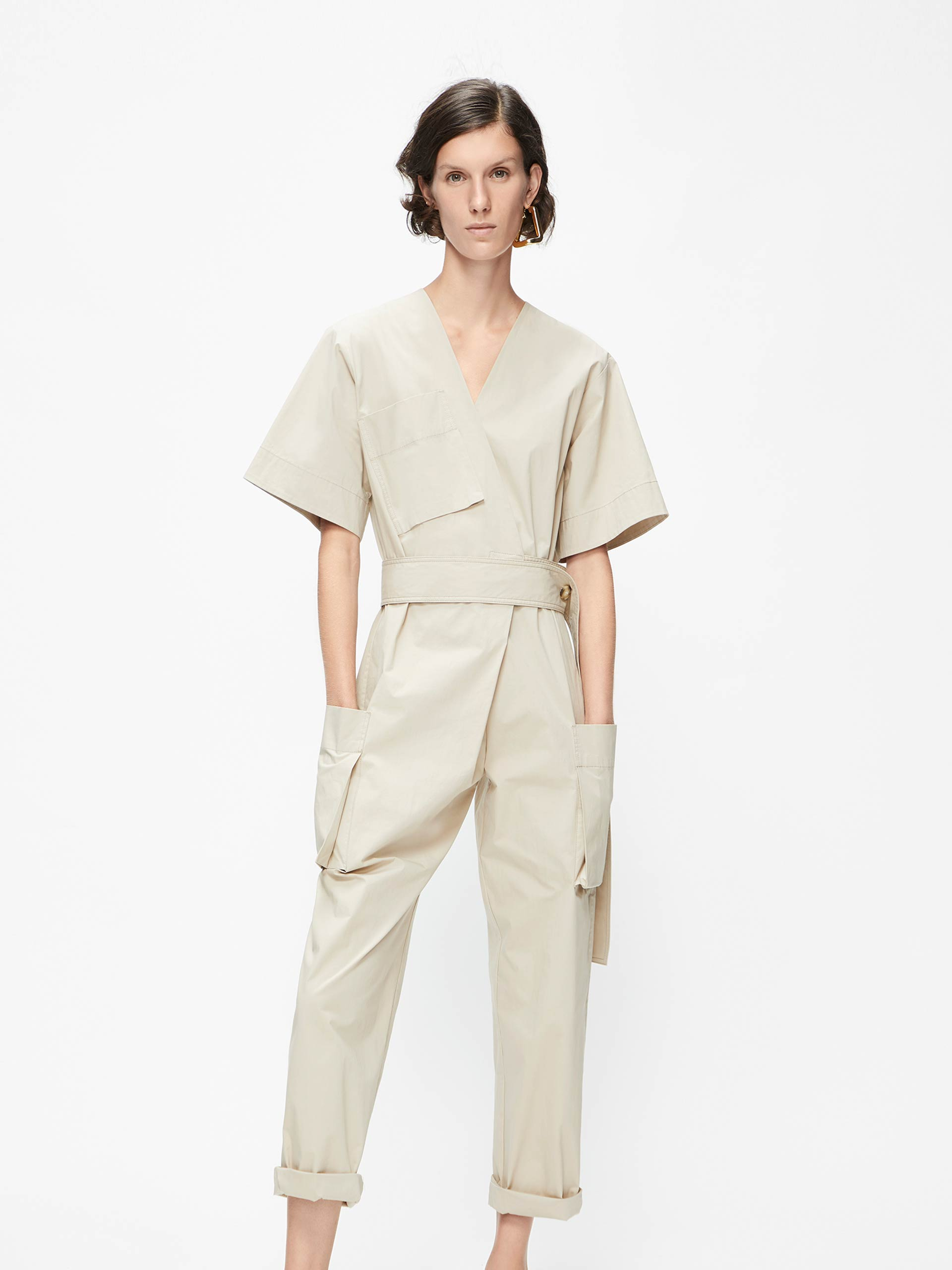 「夏季新品」猎装连体裤