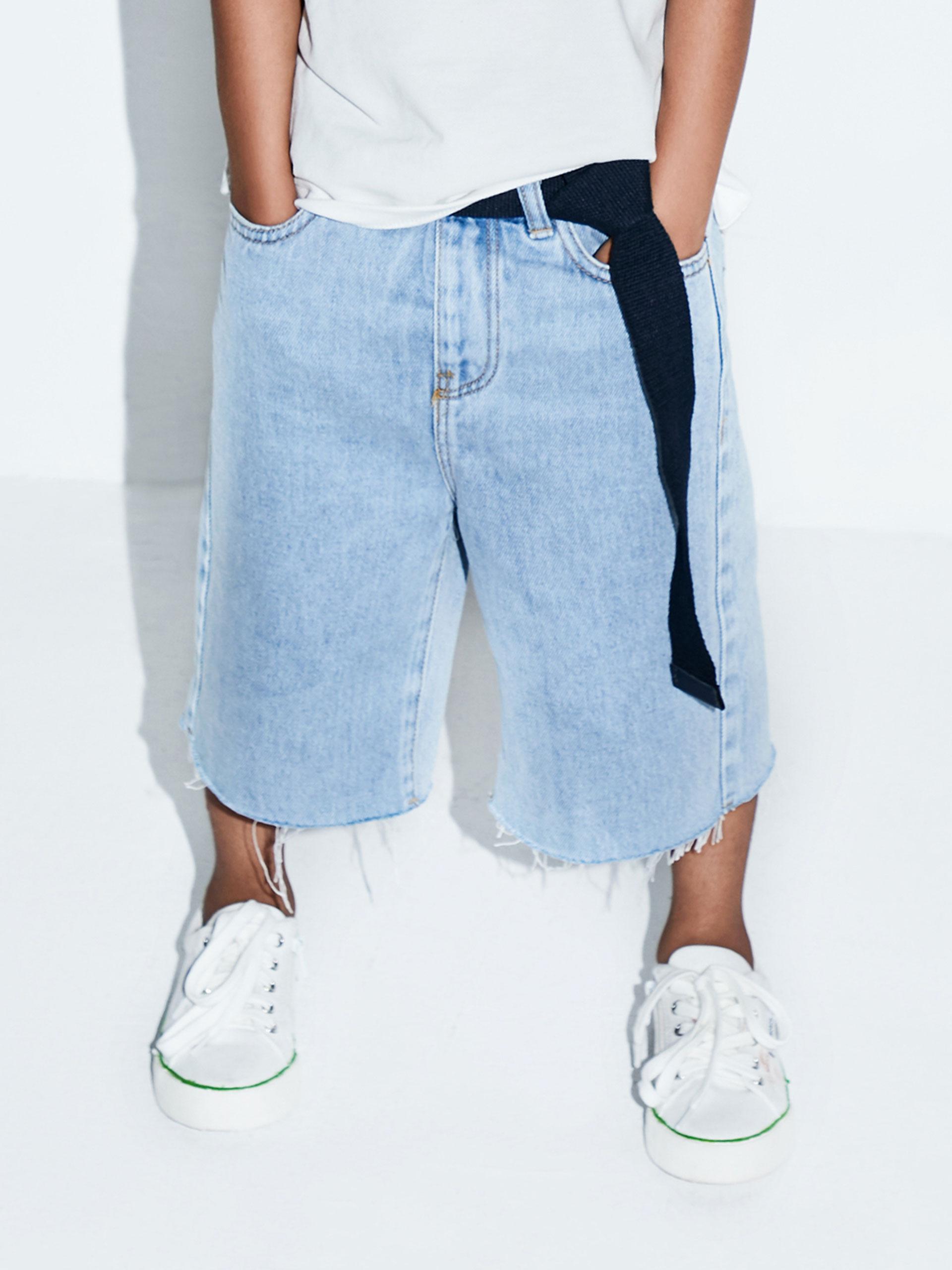 怀旧宽松牛仔短裤