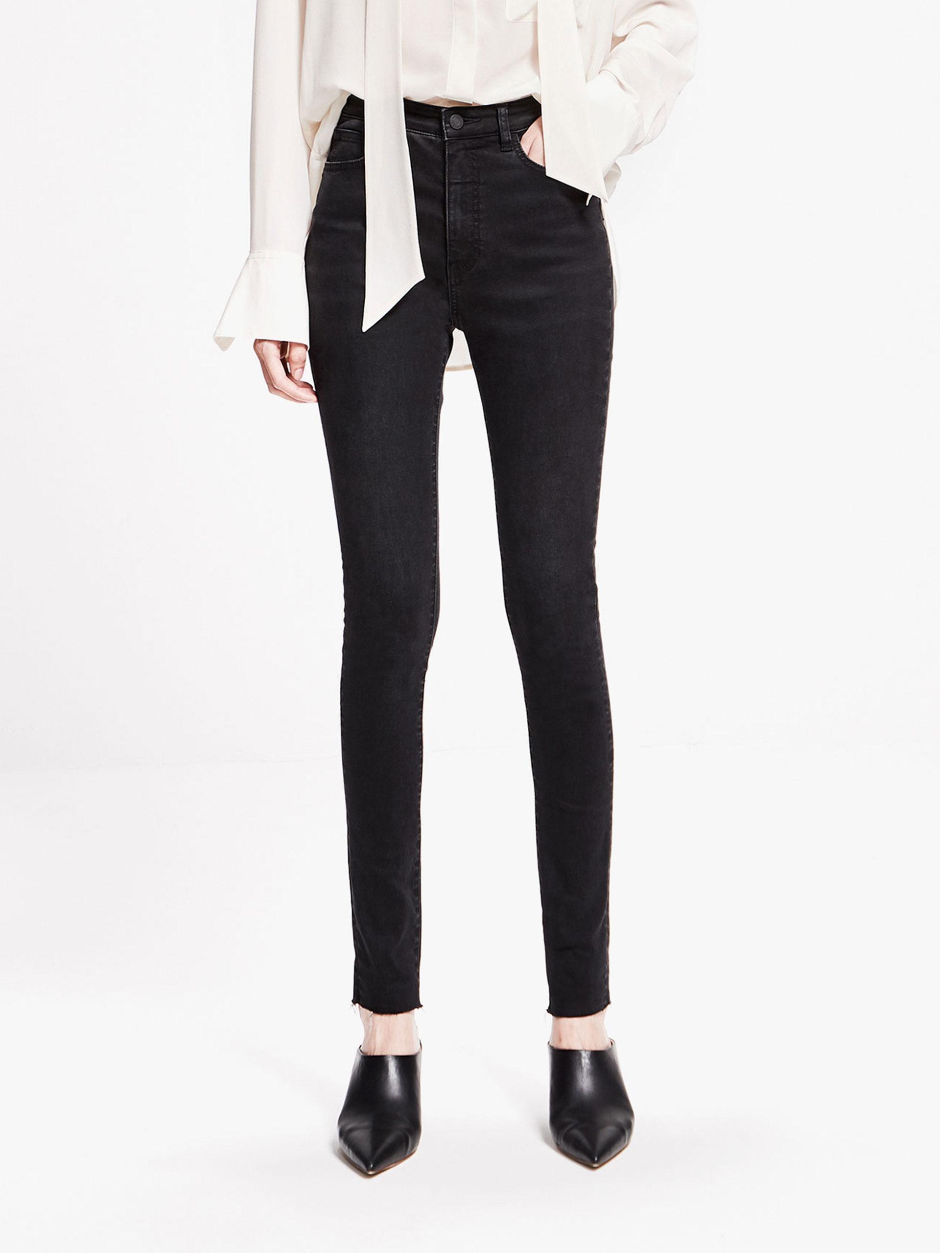 「春季新品」黑色牛仔紧身裤