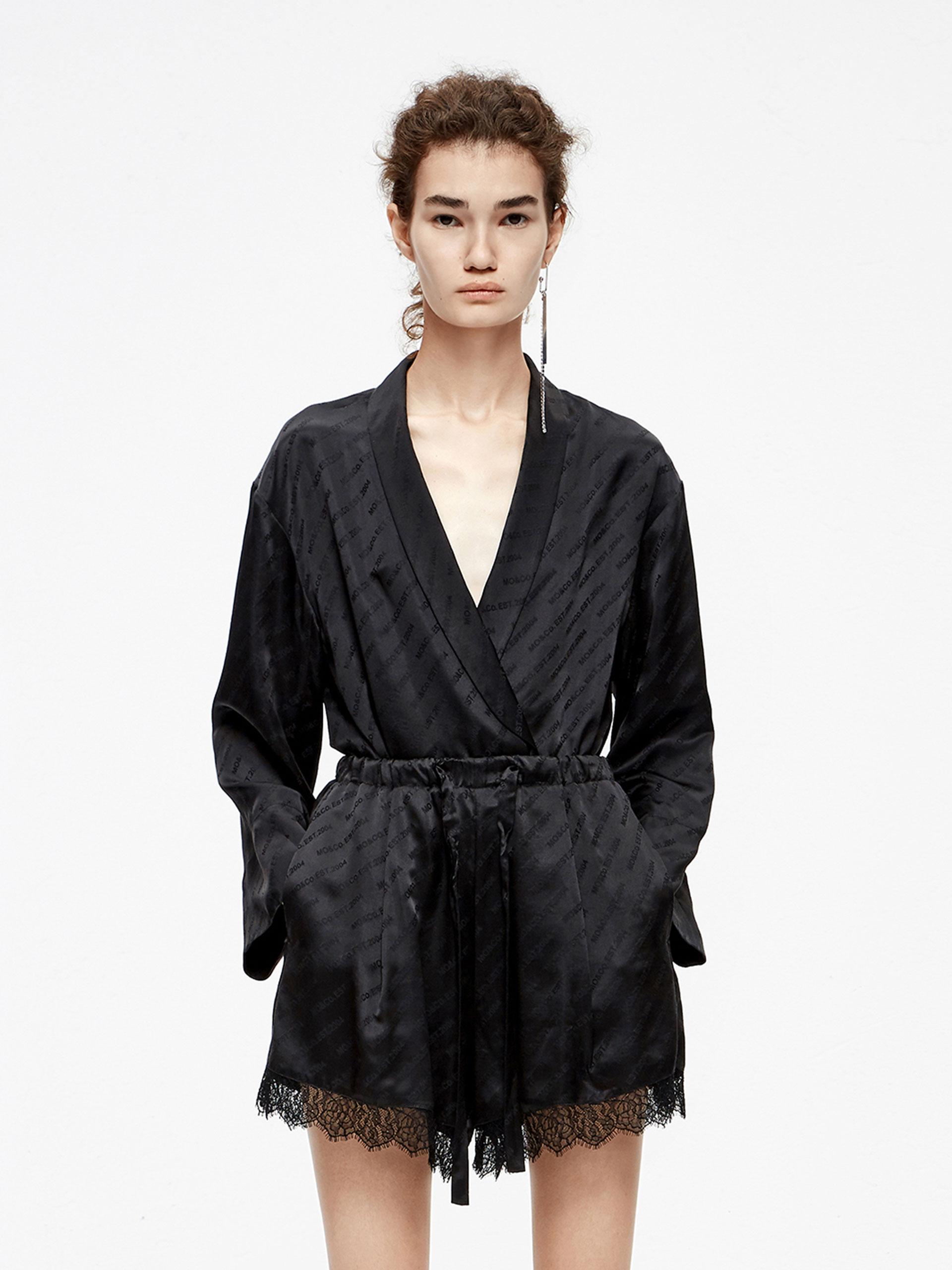 「夏季新品」睡衣风暗纹夹克