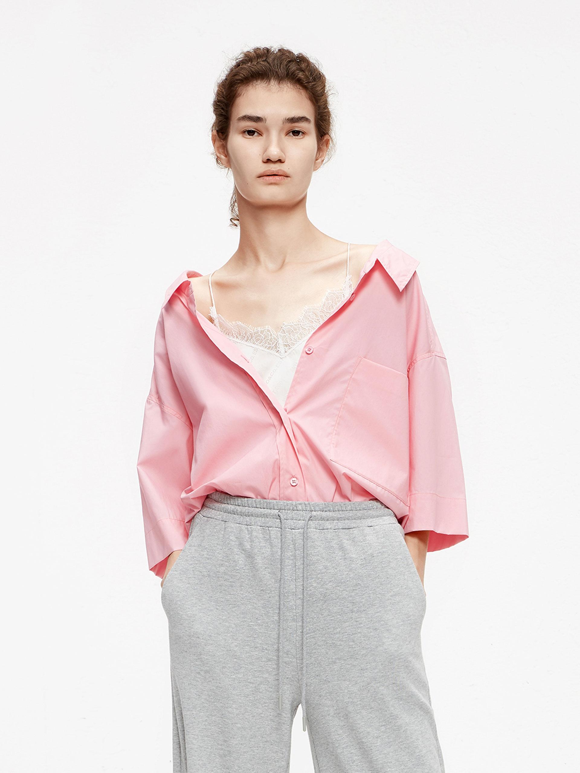 「夏季新品」七分袖衬衫